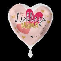 """Heliumballon """"Lieblingsmama"""" , mit Karte und gratis Lieferung"""