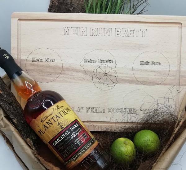 Rumset mit Rum-Brett und PLANTATION RUM