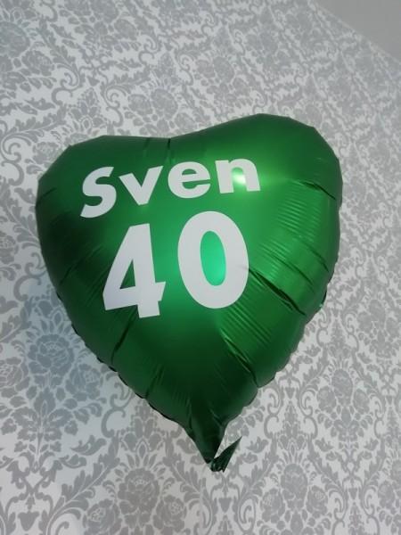 Personalisierung eines Ballons mit dem Durchmesser 45cm