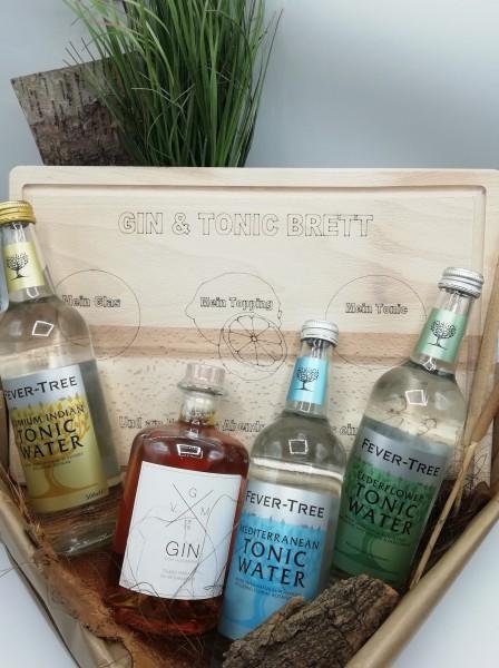 Ginset 2: GIN VON MOORRIEM, Gin-Brett, 3 Tonic-Water