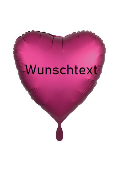 Heliumballon Herz pink, mit Wunschtext/Karte und gratis Lieferung