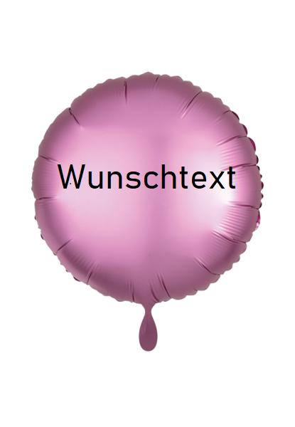 Heliumballon rosa/rund, mit Wunschtext/Karte und gratis Lieferung
