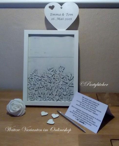Personalisierter Hochzeits Gästebuch Bilderrahmen