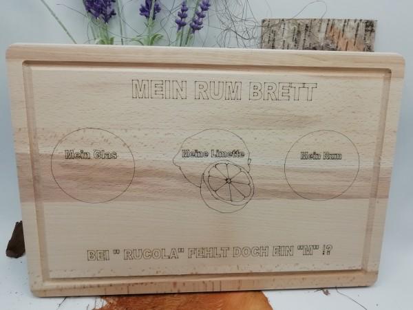 Großes Rum-Brett/Rum Board - graviert
