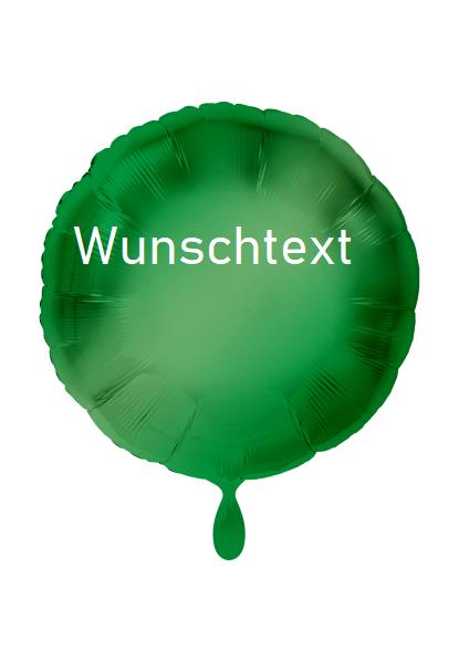 Heliumballon rund grün, mit Wunschtext /Karte und gratis Lieferung