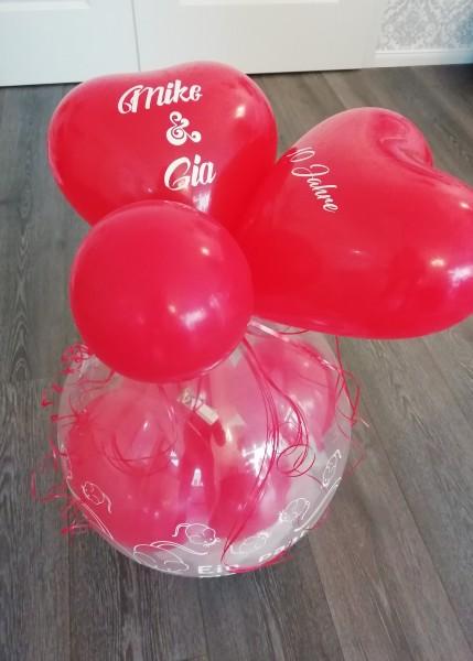 """Verpackungsballon """" Ein paar Mäuse"""" Mit Namen und Datum - inklusive Lieferung"""