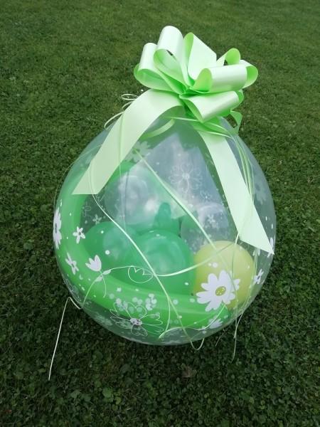"Verpackungsballon "" Blumen""- inkl. Lieferung"
