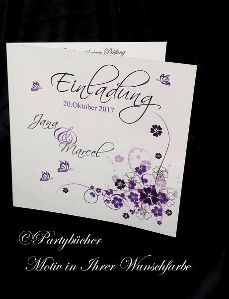 Einladungskarte Quadratisch inkl.Umschlag