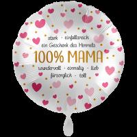"""XXL Heliumballon """"100% Mama"""" , mit Wunschtext/Karte und gratis Lieferung"""