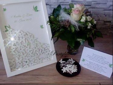 """Gästebuchbilderrahmen""""Schmetterlinge"""" zur Hochzeit"""
