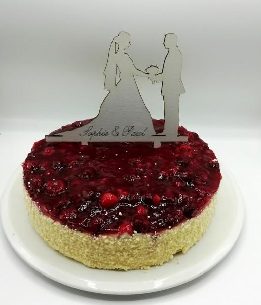 Cake Topper Brautpaar hält Hände