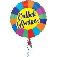 """Heliumballon """"Endlich Rentner"""""""