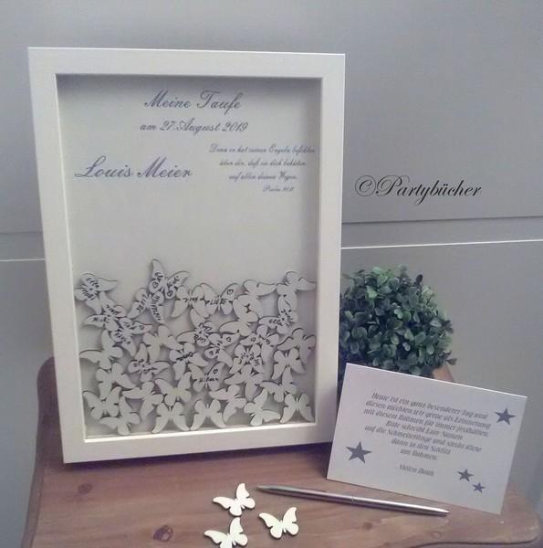 Personalisiertes Hochzeitsgästebuch als Bilderrahmen