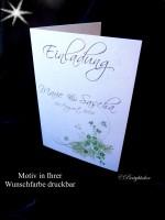 Einladungskarte zur Hochzeit inkl.Umschlag