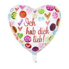 "Heliumballon ""Ich habe Dich lieb"""