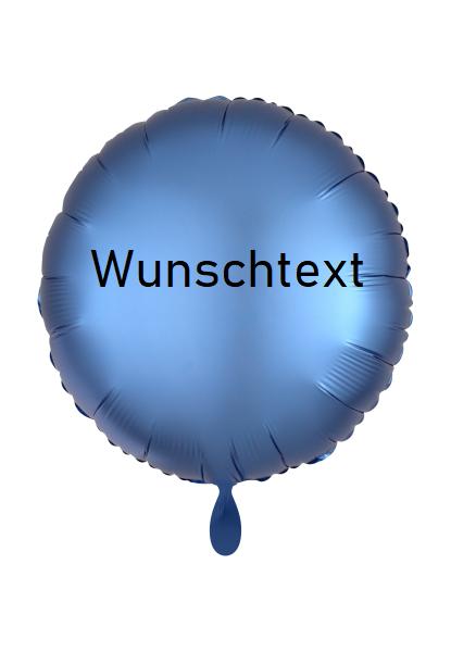 Heliumballon blau/rund, mit Wunschtext/Karte und gratis Lieferung