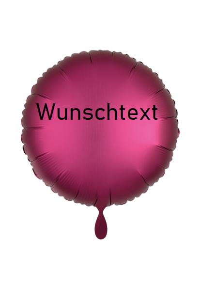 Heliumballon pink/rund, mit Wunschtext/Karte und gratis Lieferung