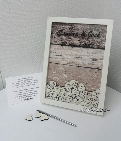 Gästebuchbilderrahmen zur Hochzeit , Gästebuch