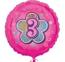 """Heliumballon """" 3 voller Glitzer""""Metalliclook"""