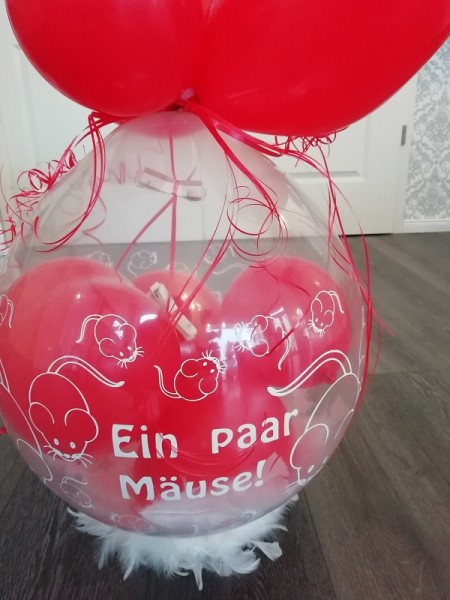 """Verpackungsballon """" Ein paar Mäuse"""" - inkl.Lieferung"""
