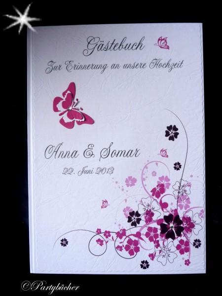 hochzeitsgästebuch pink magenta rosa