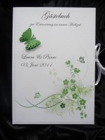 Gästebuch Hochzeit schmetterlinge grün DIN A4