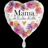 """Heliumballon """"Mama ich liebe Dich"""" , mit Karte und gratis Lieferung"""