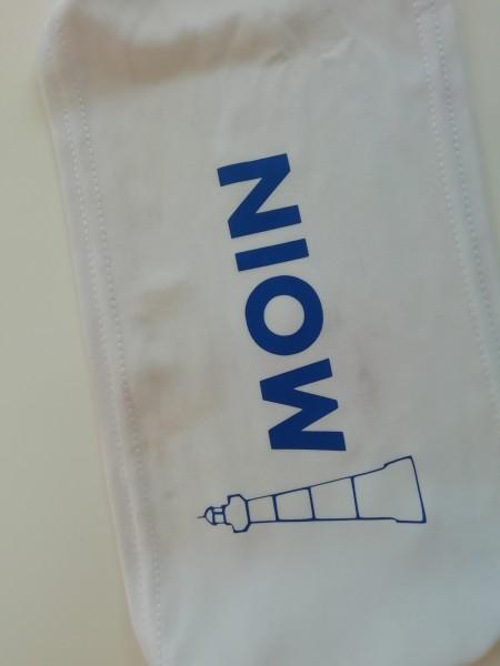 """Stoff für Make- WEISS """"Moin und Leuchtturm"""""""