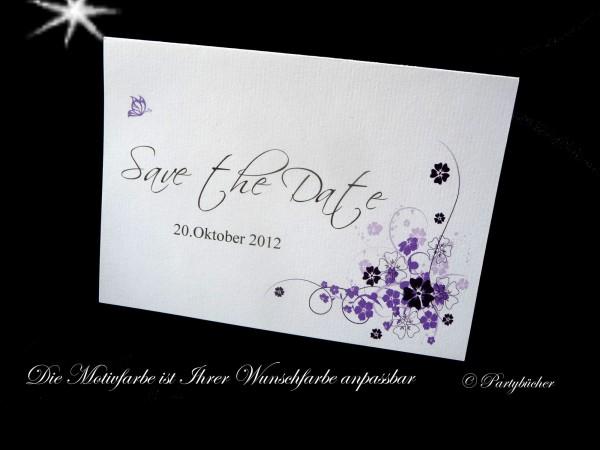 Save the Date Karte zur Hochzeit inkl.Umschlag