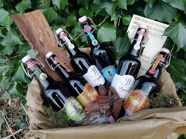 """Bierbox für Männer mit 6 Bier aus dem """"Butjenter Brauhaus"""" und einem gelasertem Schild"""