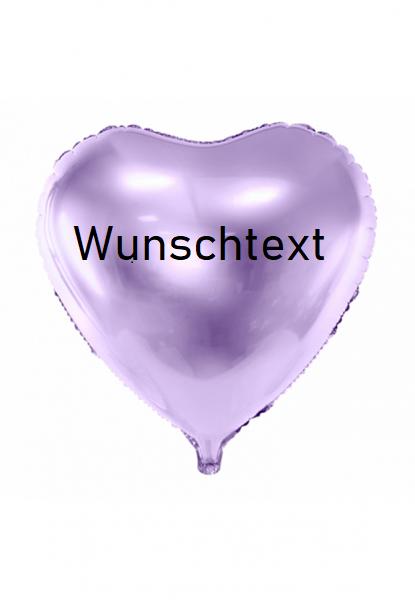 XXL Heliumballon Herz lavendel, mit Wunschtext/Karte und gratis Lieferung