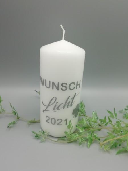 """Kerze """" Wunschlicht"""" inkl. graviertem Holzhänger und Lieferung-Copy"""