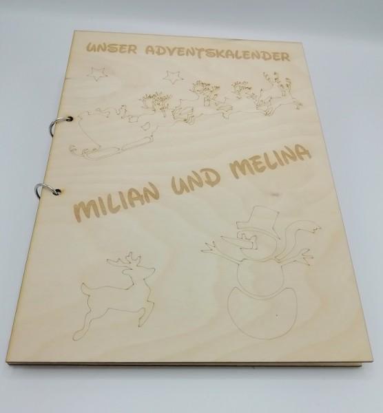 Adventkalender für Kinder, Adventskalender mit Geschichten, Adventskalenderbuch, Adventskalender aus