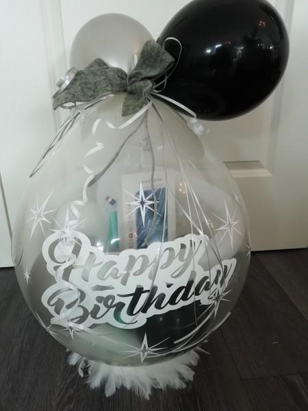 "Verpackungsballon "" Happy Birthday Sterne/gross"""