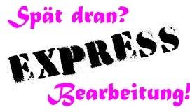 Expressbearbeitung für personalisierte Produkte
