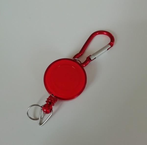 Zipp Anhänger für Corona-Kralle-rot