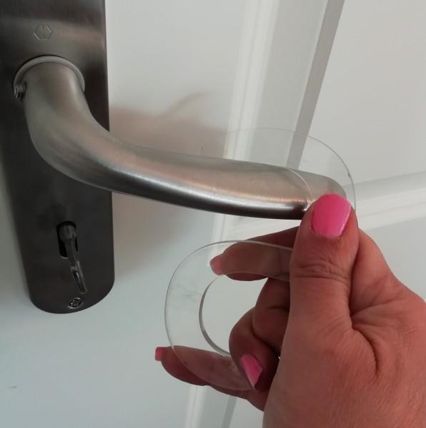 Corona-Kralle, Türöffner, Hygienekralle - durchsichtig